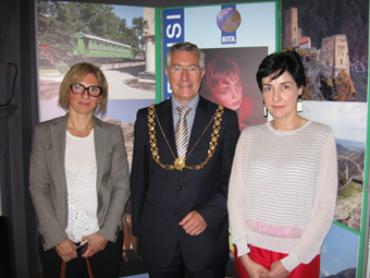 Nino Kharadze who is a counsellor at the Georgian Embassy Mako and The Lord Mayor at the business breakfast web2